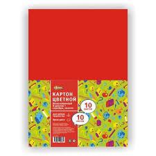 <b>Картон цветной</b> №1 School Отличник (<b>А4</b>, 10 листов, 10 цветов ...