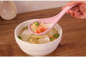 <b>QueenTime</b> Plastic Soup Ladle Wheat Straw Big Spoon Chinese ...