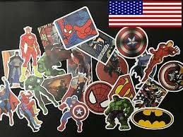 25 <b>Pcs</b>/<b>Lot</b> Stickers MARVEL Avengers <b>Super Hero</b> DC <b>For</b> Car ...