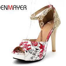 <b>ENMAYER Summer</b> Women Casual <b>Fashion</b> Print Sandals Pumps ...