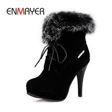 <b>ENMAYER</b> 2018 New fashion <b>women</b> solid front lace up <b>round toe</b> ...