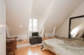 attic bedroom stockholm attic with stepped walls amp steep ceilings attic furniture ideas