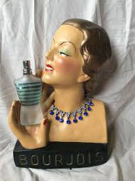 <b>BOURJOIS</b> ADVERTISING DISPLAY BUST DECO 20S /30S STYLE ...