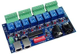 8CH DMX <b>Relay</b> Switch Dmx512 Controller <b>Relay</b> Output DMX512 ...