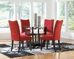 Solid Cherry Dining Room Table Beautiful Red Modern Dining Room Chairs Red Microfiber High Back