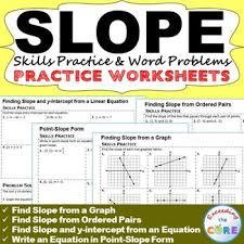 Pinterest     The world     s catalog of ideas SLOPE  amp  y INTERCEPT Homework Worksheets  Skills Practice  amp  Word Problems includes   practice