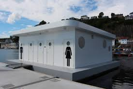 the floating shower and changing room unit comes with two main sections one for males and one for females with 4 showers in each section ample shower room