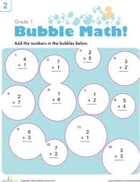 Bubble Math | Worksheet | Education.comFirst Grade Addition Worksheets: Bubble Math