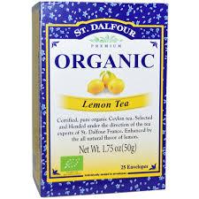St. Dalfour, <b>Organic</b>, <b>лимонный чай</b>, <b>25</b> конвертиков, 1,75 унции ...