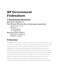 ap gov federalism essay questions essay ap government federalism instructional resources edwards ap government bureaucracy essay questions