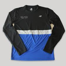 Men's New Balance Striped <b>Accelerate Long Sleeve</b> — Trail Roots