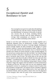 exceptional hamlet and resistance to law springer revenge tragedy and early modern law
