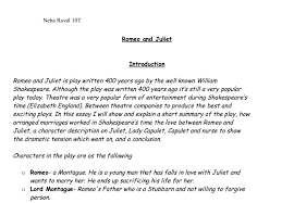 summary of the play romeo and juliet   gcse english   marked by    document image preview