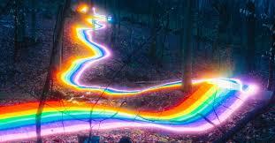 <b>Long</b> Exposure Photography of <b>Rainbow</b> Road Illuminated ...