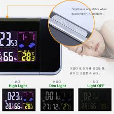 <b>Digital Projection Alarm Clock</b> Weather Station with Temperature ...