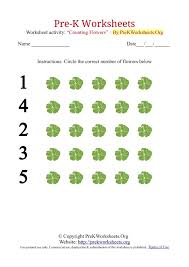 preschool-math | tag | Pre K Worksheets OrgPre-K Counting Worksheets with Flowers
