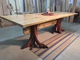 wood slab dining table beautiful: live edge grey elm dining table locust stump base table beautiful v