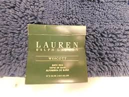 lauren bath rugs x lauren ralph lauren wescott cotton bath rug club navy blue ampquot x a