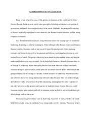 essay on leaders ampamp followers   essay  leader follower essay   pages essay on leadership in gladiator