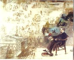 baugh s blog essay twenty of dickens s most memorable characters dickens dream by r w buss dickens in his study at gad s hill place dreaming his characters