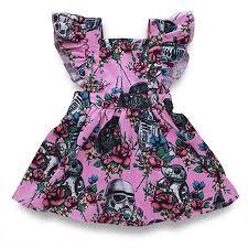 Toddler <b>Girl Summer Dress</b> Ruffle Sleeveless <b>Backless</b> Cotton