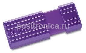 Купить <b>Флеш диск 16Gb Verbatim PinStripe</b> USB2.0 фиолетовый в ...