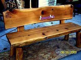 cedar log bench plans cedar bench plans