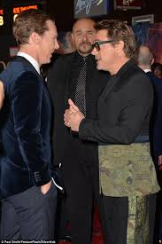 Big night  Benedict managed to find time for a chat with Robert Downey Jr