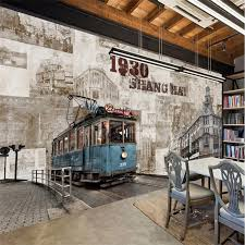 <b>Beibehang Custom wallpaper</b> old Shanghai retro building tram TV ...