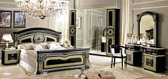 stylish black bedroom sets  stylish aida black wgold camelgroup italy classic bedrooms bedroom al