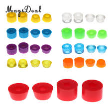 magideal skateboard rebuild kit bushings washers pivot cups for 2 trucks replacement longboard