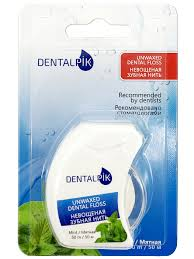 <b>Зубная нить</b> мятная <b>Dentalpik Floss</b> Mint Unwaxed (не вощеная ...