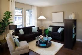 a small living room with an open bookcase acting as a room barrier in the open beautiful small livingroom