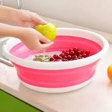 <b>Simple life</b> plastic wash basin folding bucket portable camping ...