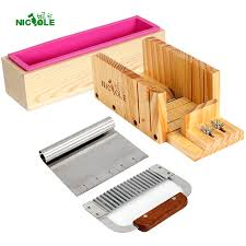 <b>Nicole Silicone Soap Mold</b> Handmade Soaps Making Tool Set 4 ...