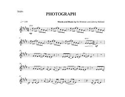photograph ed sheeran violin cover sheet music photograph ed sheeran violin cover sheet music
