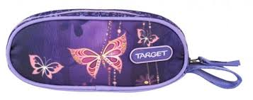 <b>Пенал</b> овальный <b>TARGET COLLECTION</b> Золотая бабочка ...