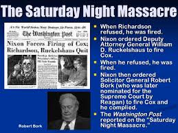 「Saturday Night Massacre」の画像検索結果
