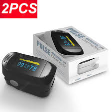 <b>2PCS</b> Digital <b>Finger Oximeter</b> Portable Electronic LED Display ...