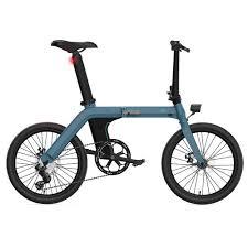 "<b>FIIDO D11 Folding</b> Electric Moped Bicycle 20"" 250W Motor Blue"