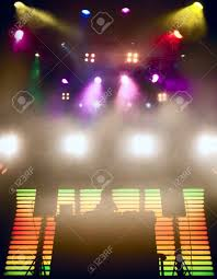 dj at a nightclub on the scene for a game bright beautiful lighting stock photo beautiful lighting