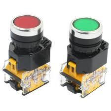 2pcs <b>22mm</b> Mount 10A 380V DPST Red Green Momentary Push ...