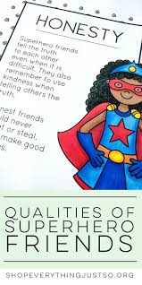 best ideas about teaching friendship friendship qualities of a superhero friend shopeverythingjustso org teach students the qualities of a