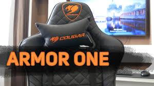 Геймерское <b>кресло Cougar Armor</b> One Black - небольшой обзор ...