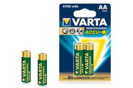 <b>Аккумуляторы VARTA</b> АА Ni-MH <b>2700 мАч</b>, 2 шт. — купить с ...