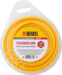 Купить <b>Леска для триммера Denzel</b> круглая 2.4*15м с доставкой ...