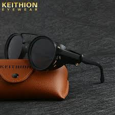 <b>KEITHION Men</b> Vintage Steampunk <b>Sunglasses</b> Fashion Round ...