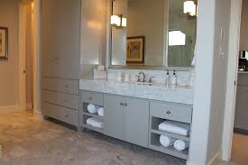 tall white corner bathroom storage cabinet