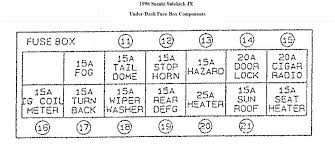 1989 geo metro fuse box 1989 wiring diagrams