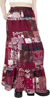 Lofbaz <b>Women's Long Bohemian Maxi</b> Skirt Hippie Gypsy Boho Dress